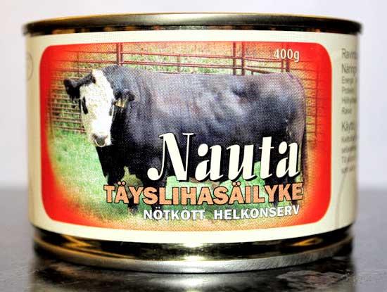 Rantalan Lihan Nauta-täyslihasäilyke 400g-TÄY