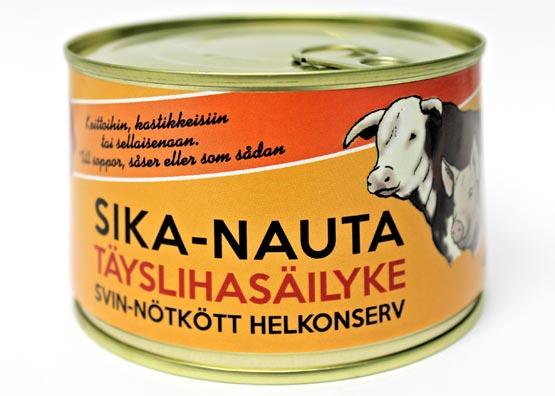 Rantalan liha - Sika-nauta täyslihasäilyke